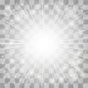Stock Illustration of Blurred Sun Rays.