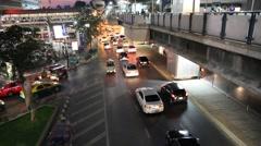 Nigth traffic in Bangkok, Thailand Stock Footage