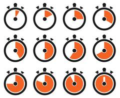 Timer icons Stock Illustration