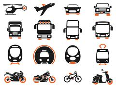 Transport mode icons Stock Illustration