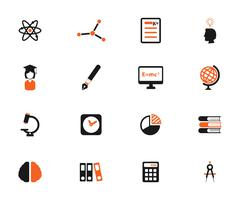 University simply icons Stock Illustration