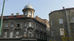 View of an old building with cupola in Sarajevo Stock Footage