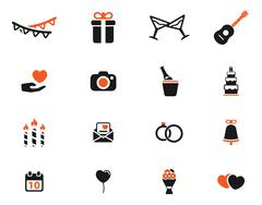 Wedding simply icons Stock Illustration