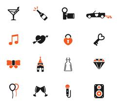 Wedding simply icons Piirros