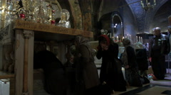 Interior shots of Catholic Church of the Holy Sepulchre. - stock footage