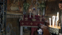 Interior shots of Church of the Holy Sepulchre. Stock Footage