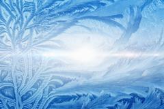 Beautiful icy pattern Stock Illustration
