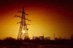 Blackout concept, power failure - stock photo