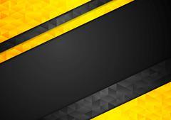 Contrast orange black corporate polygonal background Stock Illustration