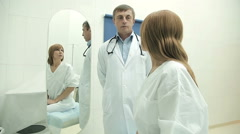 Beautiful woman on a medical examination Stock Footage