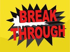 Breakthrough Banner Illustration (Vector) Stock Illustration