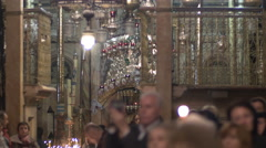 Thursday in Holy Week Ceremony at Holy Sepulcher. Stock Footage
