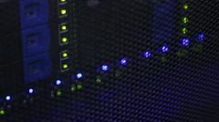 Lamps on Motherboard server iterface Stock Footage