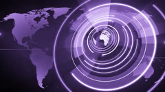 Abstract circle round globe background LOOP 4K violet Stock Footage