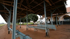 Railway station, Jinja, Uganda, East Africa Stock Footage