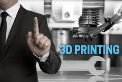 3d Printing and businessman concept Kuvituskuvat