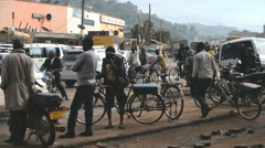 street scene on December in the Kabale, Uganda. - stock footage