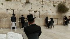 Jerusalem western wall. Stock Footage