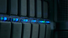 Interface Database in Render Farm - stock footage