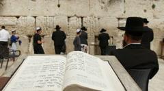 Jerusalem western wall. - stock footage