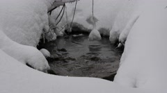 Snowy Streamlet Winter Stock Footage