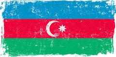 Azerbaijan Vector Flag on White Stock Illustration