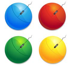 Color computer mouses Stock Illustration