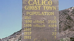 Calico, California, USA 1975: visitors in the ghost town Stock Footage
