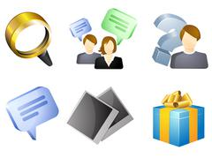 Personal cabinet icon set Stock Illustration