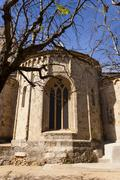 Apse of the romanesque monastery of Sant Cugat, Barcelona - stock photo