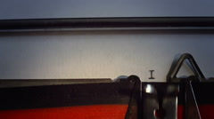 "Message typed is ""In the beginning"" on old typewriter. Stock Footage"