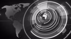 Abstract circle round globe background LOOP 4K colorless Stock Footage