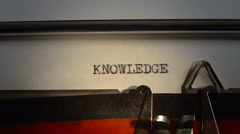 "Message typed is ""KNOWLEDGE"" - stock footage"