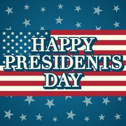 Presidents day background, united states Stock Illustration