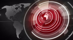 abstract circle round globe background LOOP 4K colorless-Red - stock footage