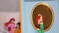 Music Box Mermaid Ballerina Toy Dancing Stock Footage