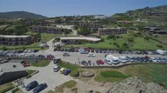 Drone flight near Stintino beach Stock Footage