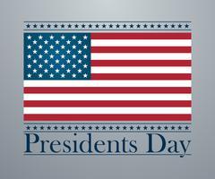 presidents day background, united states - stock illustration