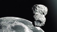 Comet close to the Moon Stock Footage