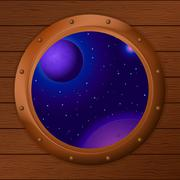 Stock Illustration of Window with space