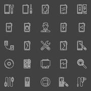 Smart phone repair icons Piirros