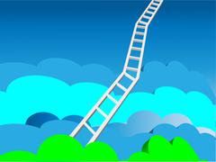 Heaven's Ladder Stock Illustration