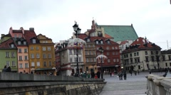 Time-lapse: Castle Square in Warsaw, Poland Stock Footage