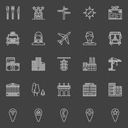 City or town icons Piirros