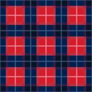 Rectangular seamless pattern in blue and red colors Stock Illustration