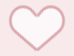 Calligraphic outlined  heart-shape frames with full editable fill and stroke  Stock Illustration