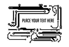 Background in PCB-layout style with empty space for your text. Stock Illustration