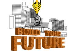 Stock Illustration of build your future
