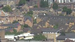 4K Aerial view residential district traditional houses design suburban London UK Stock Footage