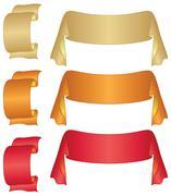 Banners ribbons, set - stock illustration